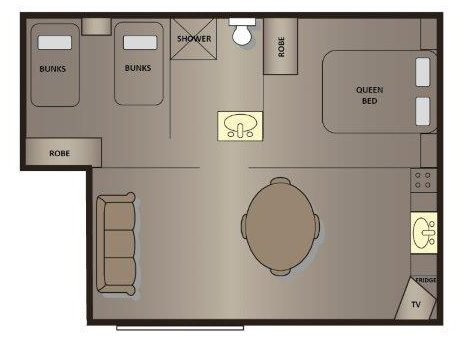newland cabin floor plan victor harbor holiday park