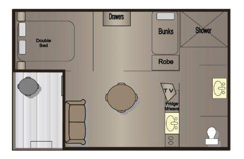 rosetta cabin floor plan victor harbor holiday park