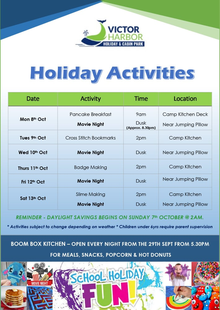 Victor Harbor October School Holidays Week 2