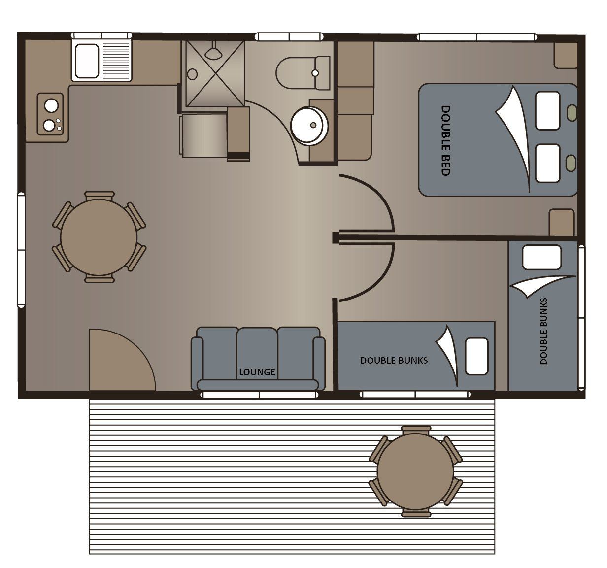 yilki cabins floor plan victor harbor holiday park
