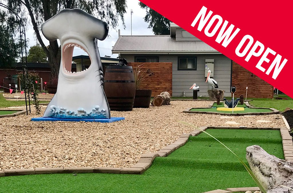 mini golf now open victor harbor holiday park