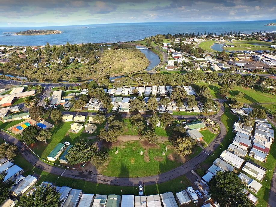 victor harbor holiday park aerial